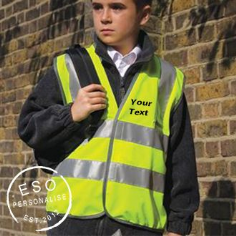 Personalised Childrens Safeguard Hi-Visibility Vest  (RS21B)